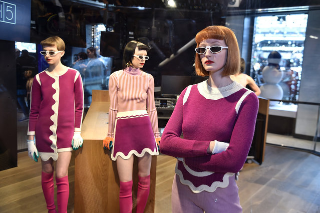 Models pose for PH5 presentation during New York Fashion Week: The Shows at Samsung 837 on February 8, 2018 in New York City. (Photo by Theo Wargo/Getty Images for New York Fashion Week: The Shows)