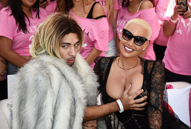 Joanne the Scammer (L) and model Amber Rose attend the Amber Rose SlutWalk 2016 at Pershing Square on October 1, 2016 in Los Angeles, California. (Photo by Amanda Edwards/FilmMagic)