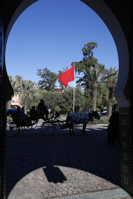 A caleche is seen at the entrance of El Mamounia Hotel in Marrakech December 10, 2014. (Photo by Youssef Boudlal/Reuters)