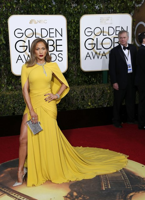 Actress Jennifer Lopez arrives at the 73rd Golden Globe Awards in Beverly Hills, California January 10, 2016. (Photo by Mario Anzuoni/Reuters)