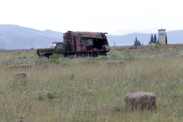 An old Albanian military vehicle is pictured in Kucova Air Base in Kucova, Albania on October 3, 2018. The runway, conceived by Soviet planners who stored dynamite under the airfield to blow it up should it fall into enemy hands and built by political prisoners in the 1950s, has good weather conditions all year round. (Photo by Florion Goga/Reuters)