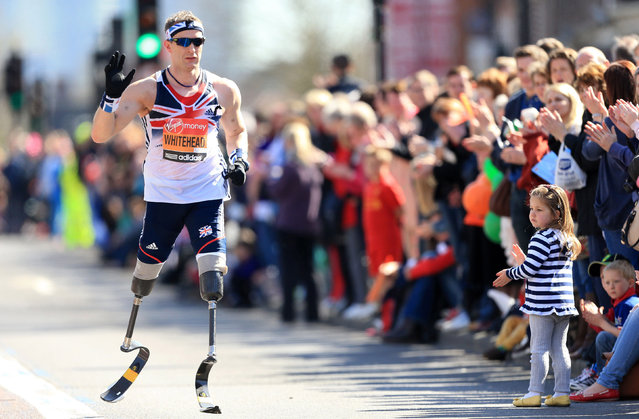 Sports Finalist – Mike Egerton. Athletics – 2013 Virgin London Marathon – London Great Britain's paralympic gold medalist Richard Whitehead during the Virgin London Marathon in London. (Photo by Mike Egerton/EMPICS)