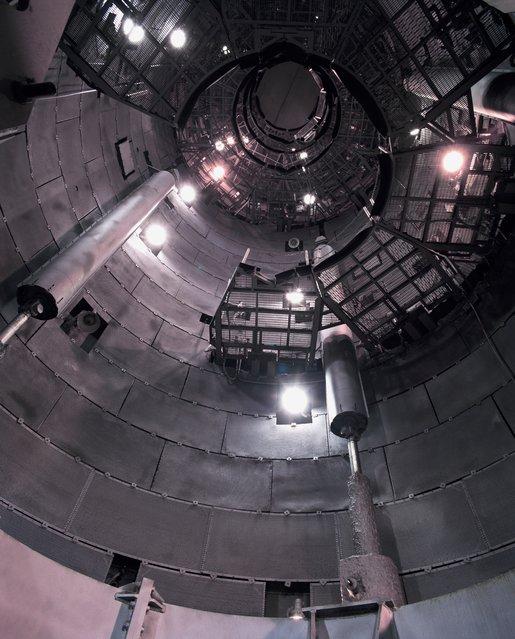 Empty Launch Silo – Titan II ICBM Silo 395-C, Vandenberg air force base, California in 1995. (Photo by Roland Miller)