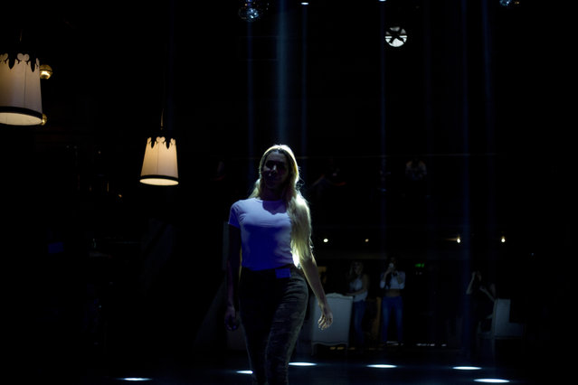 A contestant walks the catwalk during auditions for the first Miss Trans Israel beauty pageant in Tel Aviv, Israel, Thursday, March 3, 2016. (Photo by Ariel Schalit/AP Photo)