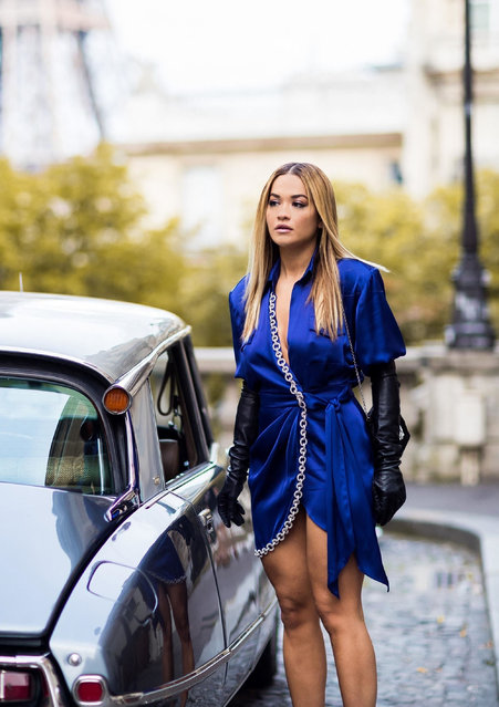 English singer Rita Ora prepares for the release of her new performance that was filmed at the Eiffel Tower in Paris on August 8, 2021. In the first of a new music series, ICONIC PEOPLE IN ICONIC PLACES, Rita Ora Live From The Eiffel Tower will take place on Thursday, September 30th in conjunction with Paris Fashion Week. The show will be streamed on Apple TV. (Photo by Backgrid USA)