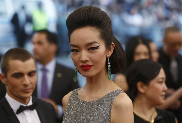 "Chinese actress Fei Fei Sun arrives to the Metropolitan Museum of Art Costume Institute Gala 2015 celebrating the opening of ""China: Through the Looking Glass"" in Manhattan, New York May 4, 2015. (Photo by Lucas Jackson/Reuters)"