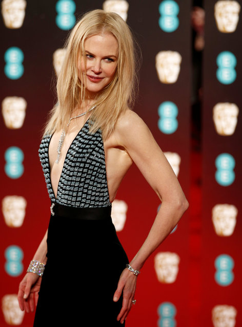 Nicole Kidman arrives for the British Academy of Film and Television Awards (BAFTA) at the Royal Albert Hall in London, Britain February 12, 2017. (Photo by Peter Nicholls/Reuters)