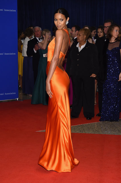 Model Lais Ribeiro attends the 102nd White House Correspondents' Association Dinner on April 30, 2016 in Washington, DC. (Photo by Larry Busacca/Getty Images)