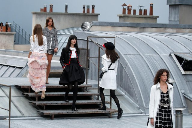 Model present creations by designer Virginie Viard as part of her Spring/Summer 2020 women's ready-to-wear collection show for fashion house Chanel during the Paris Fashion Week in Paris, France, October 1, 2019. (Photo by Gonzalo Fuentes/Reuters)