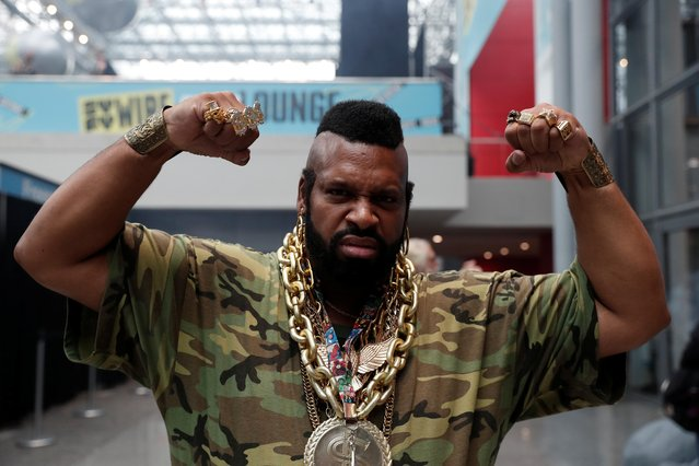 A person dressed up as Mr. T attends the 2019 New York Comic Con in New York City, New York, U.S., October 3, 2019. (Photo by Shannon Stapleton/Reuters)
