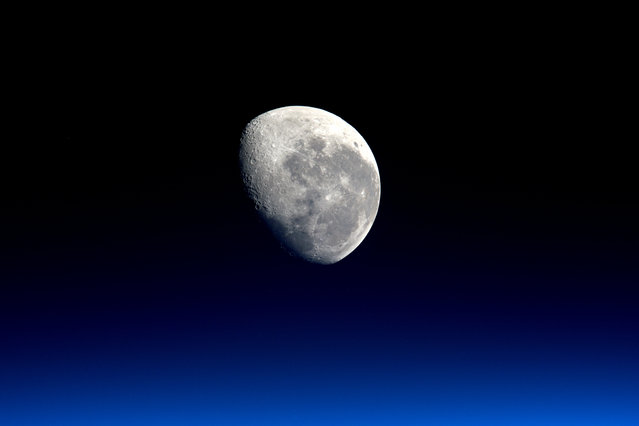 Expedition 47 Flight Engineer Tim Peake of the European Space Agency took this striking photograph of the moon from his vantage point aboard the International Space Station on March 28, 2016. (Photo by AFP Photo/ESA/NASA)