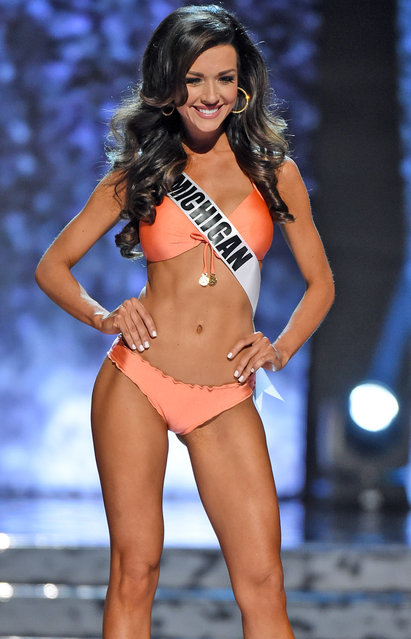 Miss Michigan USA Susie Leica competes in the swimsuit competition during the 2016 Miss USA pageant preliminary competition at T-Mobile Arena on June 1, 2016 in Las Vegas, Nevada. (Photo by Ethan Miller/Getty Images)
