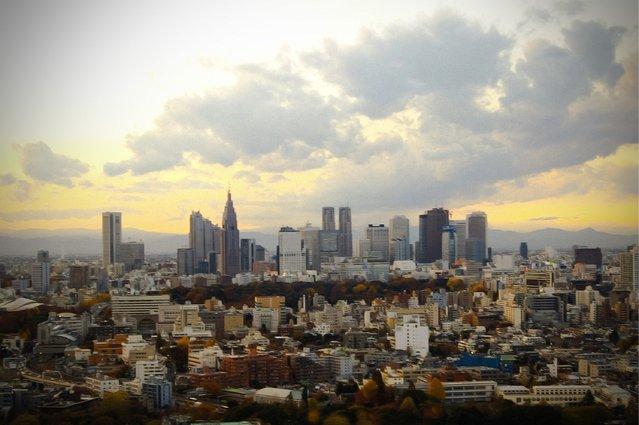 """Sunset over Tokyo"""