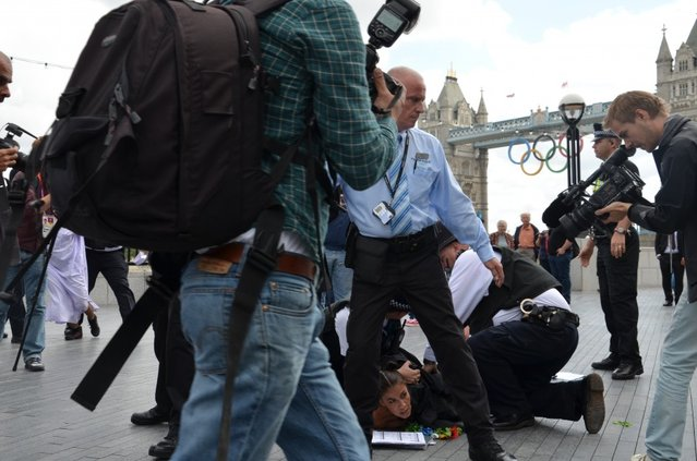 FEMEN Protests Bloodthirsty Islamist Regimes at the London 2012 Olympic Games