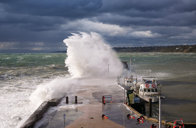 February. A cold front brings powerful waves to Mornington Pier, Victoria. (Photo by Jennifer Erlandsen/Australian Bureau of Meteorology)