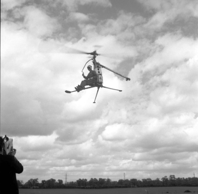Handout photo issued by Easyart of an experimental gyrocopter as an archive of weird and wacky innovations has been unearthed by an amateur historian as he trawled through a collection of images spanning the last 100 years. (Photo by Easyart/PA Wire)