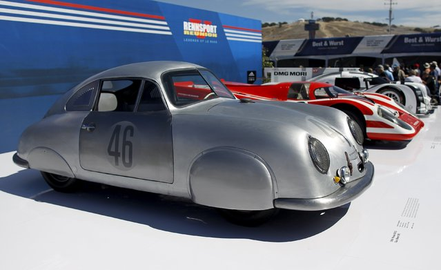 A 1949 Porsche 356 SL is displayed during the Porsche Rennsport Reunion V at Laguna Seca Raceway near Salinas, California, September 26, 2015. (Photo by Michael Fiala/Reuters)