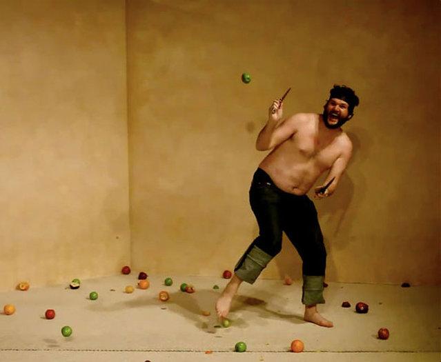 Fruit Ninja In Real Life