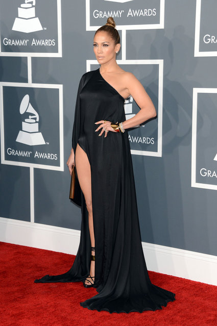 Singer/Actress Jennifer Lopez arrives at The 55th Annual GRAMMY Awards at Staples Center on February 10, 2013 in Los Angeles, California. (Photo by FilmMagic)