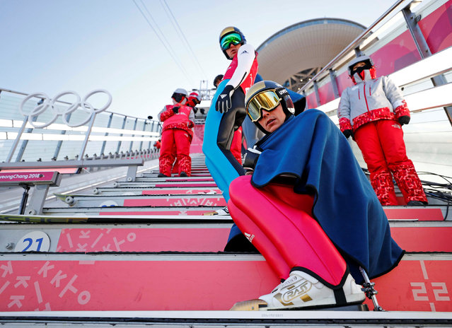 Eric Frenzel of Germany before training at the 2018 Winter Olympics in Pyeongchang, South Korea, Monday, February 12, 2018. (Photo by Kai Pfaffenbach/Reuters)
