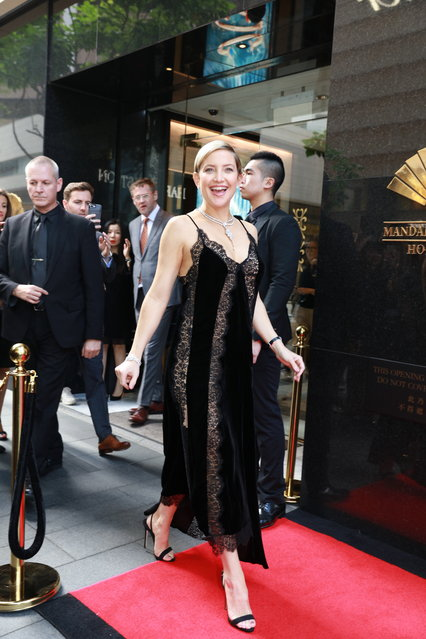 American actress Kate Hudson attends the opening ceremony of Harry Winston store on April 10, 2018 in Hong Kong, China. (Photo by VCG/VCG via Getty Images)