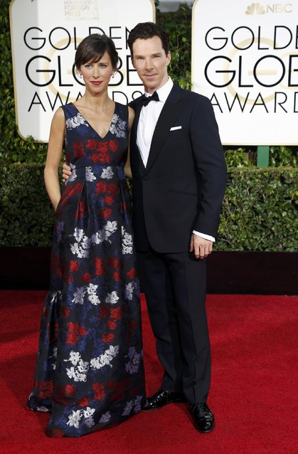 Actor Benedict Cumberbatch and Sophie Hunter arrive at the 72nd Golden Globe Awards in Beverly Hills, California January 11, 2015. (Photo by Mario Anzuoni/Reuters)