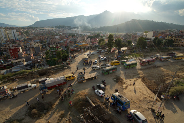 """Bhai Kaji Tiwari, development commissioner of the Kathmandu Valley Development Authority dismissed the concerns of anti-road expansion groups, saying: """"(Opponents of the road expansion) are angry now, but afterwards they will enjoy it. It will be good for business and the environment will be better"""". (Photo by Pete Pattisson/The Guardian)"""