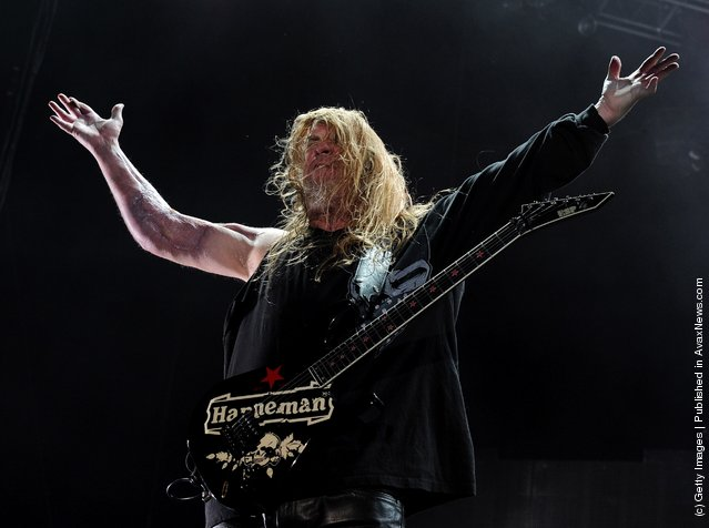 Musician Jeff Hanneman of Slayer