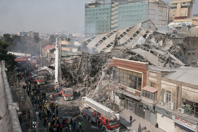 A collapsed building is seen in Tehran, Iran January 19, 2017. (Photo by Foad Ashtari/Reuters/Tasnim News Agency)