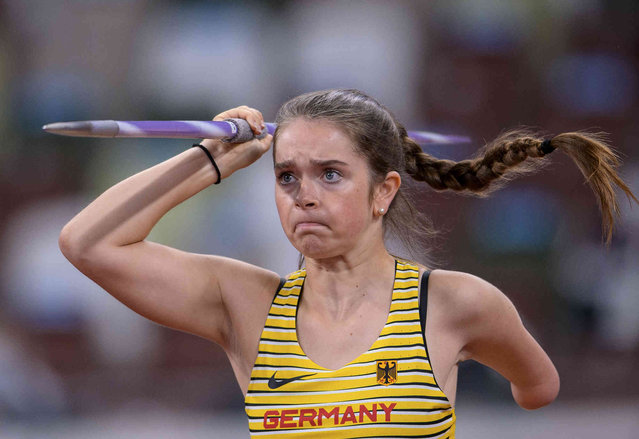 Germany's Lise Petersen competes in the Women's Javelin Throw F46 Athletics Final during the Tokyo 2020 Paralympic Games in Tokyo, Friday, September 3, 2021. (Photo by Joel Marklund for OIS via AP Photo)