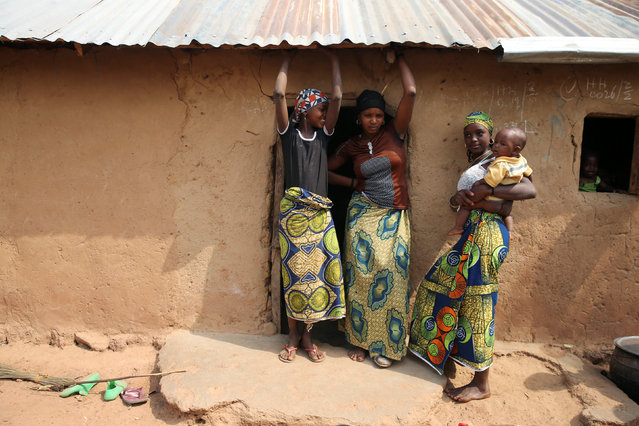 Three Fulani women stand in front of their house after they were displaced from southern Kaduna, Nigeria January 9, 2017. (Photo by Afolabi Sotunde/Reuters)