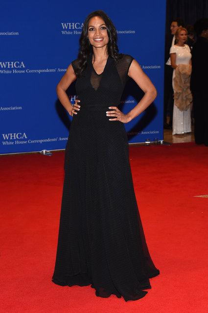 Actress Rosario Dawson attends the 102nd White House Correspondents' Association Dinner on April 30, 2016 in Washington, DC. (Photo by Larry Busacca/Getty Images)