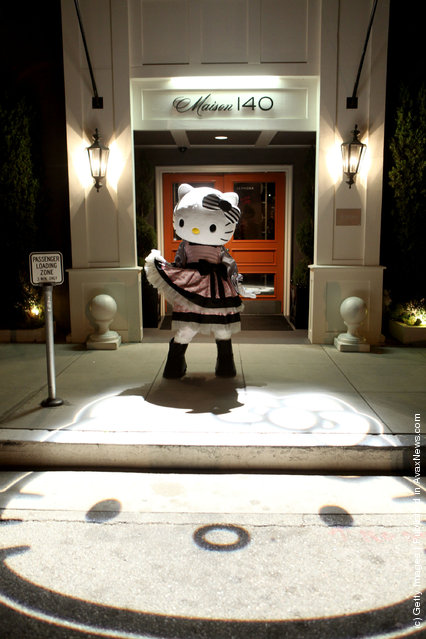 A general view of atmosphere at The First Ever Hello Kitty Beauty Hotel Suite presented by Sephora at Maison 140 in Beverly Hills, California