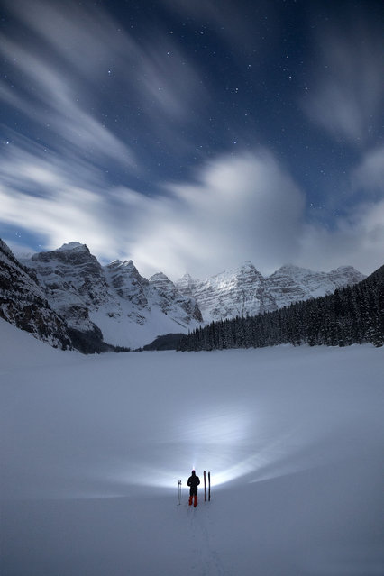 Night time at Moraine Lake. (Photo by Paul Zizka/Caters News Agency)