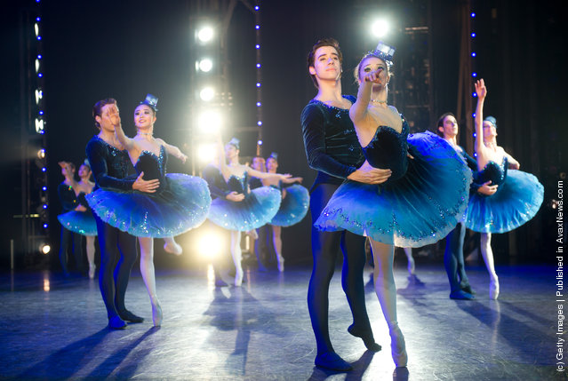 Dancers of the English National Ballet perform 'Strictly Gershwin' at the Coliseum in London