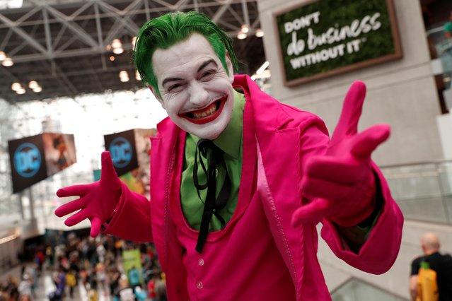 A person dressed up as the Joker attends the 2019 New York Comic Con in New York City, New York, U.S., October 3, 2019. (Photo by Shannon Stapleton/Reuters)