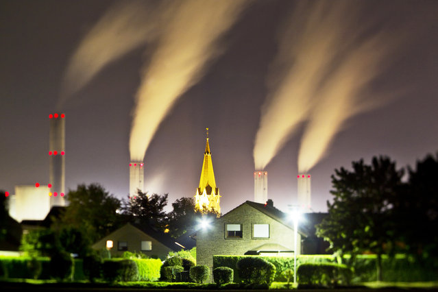 Power station Frimmersdorf, Germany. (Photo by Radek Kalhous/Caters News)