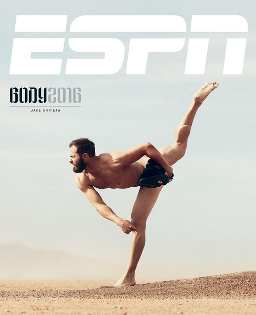 Chicago Cubs' pitcher Jake Arrieta. (Photo by Marcus Eriksson for ESPN The Magazine Body Issue)