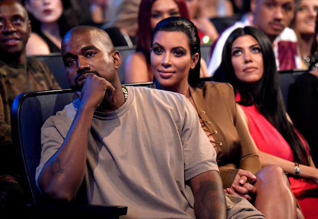 Kanye West and Kim Kardashian West attend the 2015 MTV Video Music Awards at Microsoft Theater on August 30, 2015 in Los Angeles, California. (Photo by Kevin Mazur/MTV1415/WireImage)