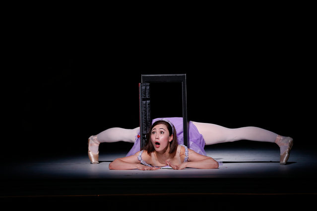 Ako Kondo as Alice, on stage. (Photo by Jeff Busby/The Guardian)