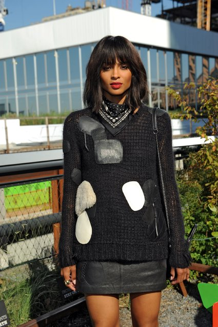 Ciara attends the Coach Women's Spring 2016 fashion show during New York Fashion Week at The Highline on September 15, 2015 in New York City. (Photo by Brad Barket/Getty Images for Coach)