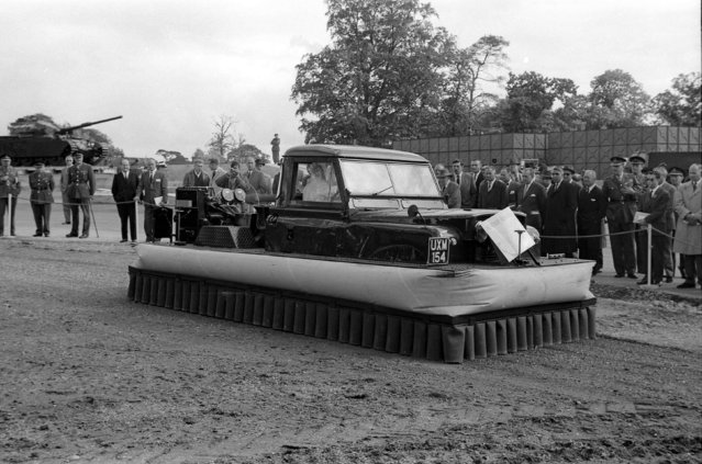 Handout photo issued by Easyart of an amphibious vehicle as an archive of weird and wacky innovations has been unearthed by an amateur historian as he trawled through a collection of images spanning the last 100 years. (Photo by Easyart/PA Wire)