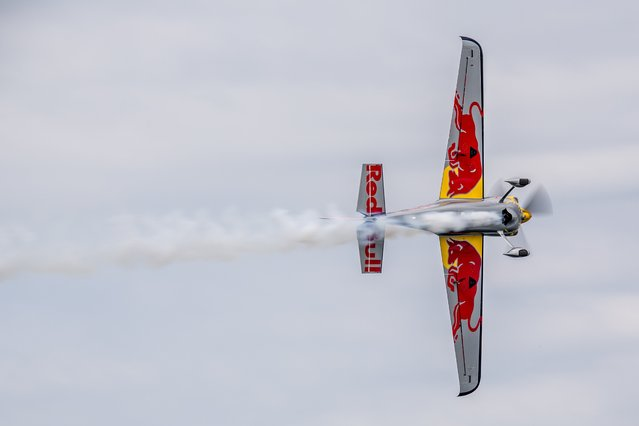 Kirby Chambliss of the United States of America performs during the training for the second stage of the Red Bull Air Race World Championship in Rovinj, Croatia on April 11, 2014. (Photo by Andreas Langreiter/Red Bull)