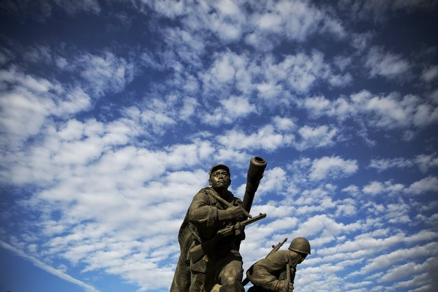 A statue is seen at the War Museum during a government organised tour for foreign reporters in Pyongyang, North Korea October 9, 2015. (Photo by Damir Sagolj/Reuters)