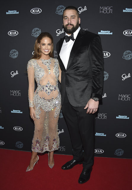 Haley Kalil, left, and Matt Kalil attend the Sports Illustrated Swimsuit Issue launch party at Magic Hour at Moxy NYC Times Square on Wednesday, February 14, 2018, in New York, USA. (Photo by Evan Agostini/Invision/AP Photo)