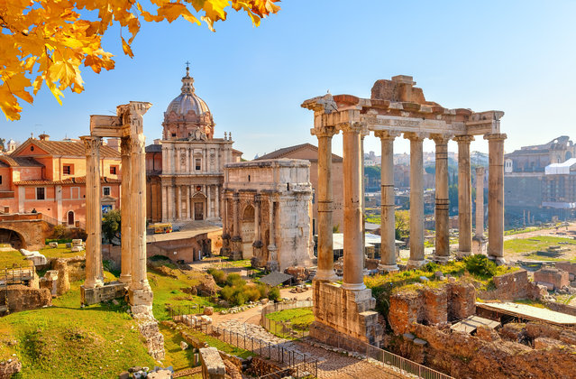Forum. Roman ruins in Rome, Italy. (Photo by S. Borisov/Getty Images/iStockphoto)