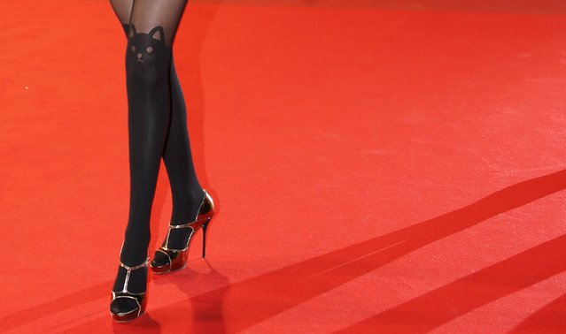 French actress Frederique Bel arrives for the NRJ Music Awards ceremony at the Festival Palace in Cannes December 13, 2014. (Photo by Eric Gaillard/Reuters)
