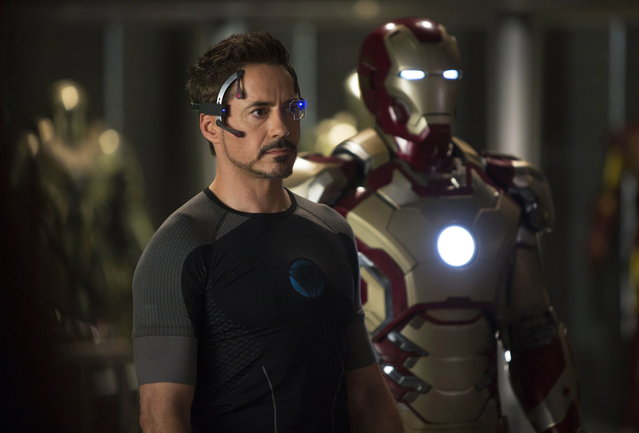 "May 3: ""Iron Man 3"". This undated publicity image released by Marvel shows Robert Downey Jr., as Tony Stark/Iron Man, in a scene from ""Marvel's Iron Man 3"".  (Photo by Zade Rosenthal/AP Photo/Marvel)"