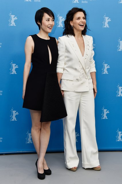 """Actresses Rinko Kikuchi and Juliette Binoche attend the """"Nobody Wants the Night"""" (Nadie quiere la noche) photo call during the 65th Berlinale International Film Festival at Grand Hyatt Hotel on February 5, 2015 in Berlin, Germany. (Photo by Pascal Le Segretain/Getty Images)"""