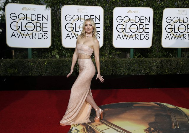 Actress Kate Hudson arrives at the 73rd Golden Globe Awards in Beverly Hills, California January 10, 2016. (Photo by Mario Anzuoni/Reuters)